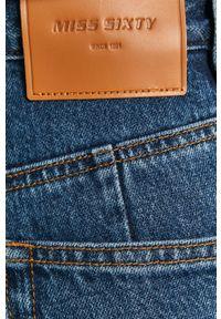 Niebieskie jeansy loose fit Miss Sixty gładkie, klasyczne