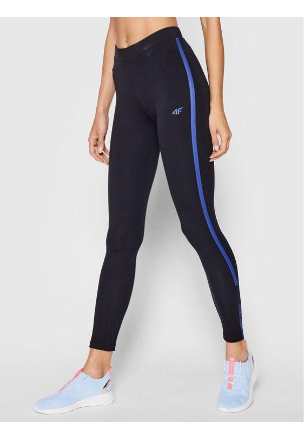 4f - 4F Legginsy H4L21-LEG013 Granatowy Slim Fit. Kolor: niebieski