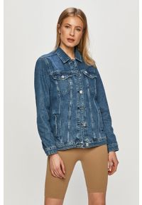 Niebieska kurtka Cross Jeans bez kaptura, casualowa, na co dzień