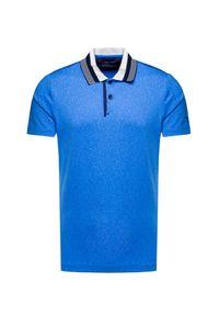 Niebieska koszulka polo Chervo polo, elegancka, melanż