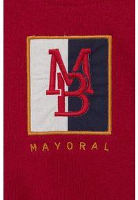 Brązowa bluza rozpinana Mayoral z aplikacjami, casualowa, na co dzień