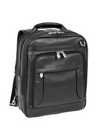 Czarny plecak MCKLEIN elegancki, w kolorowe wzory
