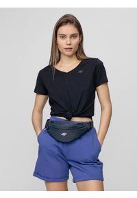 4f - T-shirt damski. Kolor: niebieski. Materiał: dzianina