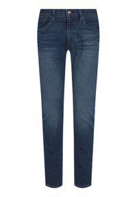 Levi's® Jeansy 512™ 28833-0405 Granatowy Slim Taper Fit. Kolor: niebieski. Materiał: lyocell, poliester, elastan, jeans, bawełna
