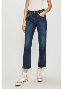 Niebieskie proste jeansy Pepe Jeans gładkie
