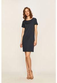 Niebieska sukienka Vila prosta, biznesowa #5