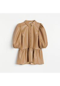 Beżowa bluzka Reserved elegancka