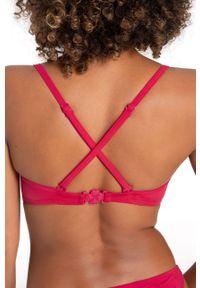 Różowy strój kąpielowy dwuczęściowy Dorina gładki