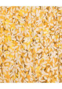 Żółta sukienka maxi, na co dzień, gorsetowa