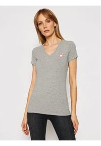 Guess T-Shirt Mini Triangle W1GI17 J1311 Szary Slim Fit. Kolor: szary