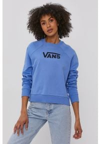 Bluza Vans street, bez kaptura, raglanowy rękaw, z nadrukiem