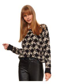 Czarny sweter TOP SECRET długi, z długim rękawem