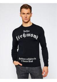 Czarny sweter klasyczny John Richmond