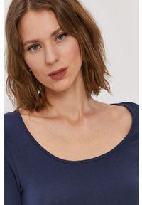Niebieska bluzka Vero Moda casualowa, gładkie, na co dzień