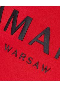 LA MANIA - Czerwona koszulka z długim rękawem. Kolor: czerwony. Materiał: bawełna. Długość rękawa: długi rękaw. Długość: długie. Wzór: napisy #4