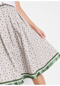 Szara spódnica bonprix elegancka, z nadrukiem