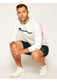 Champion Bluza Satin Script Logo 214188 Biały Comfort Fit. Kolor: biały