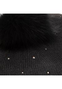 Czarna czapka zimowa Liu Jo