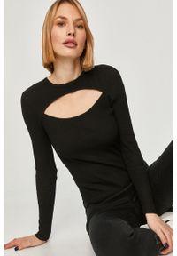 Czarny sweter Answear Lab z długim rękawem, wakacyjny, długi