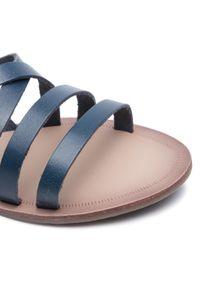 Niebieskie sandały Via Ravia casualowe, na co dzień
