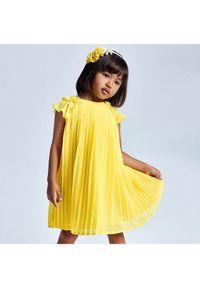 Żółta sukienka wizytowa Mayoral