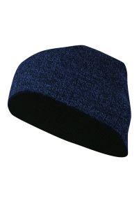 Niebieska czapka Just Yuppi melanż, na zimę, sportowa