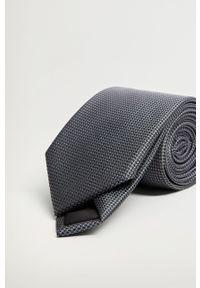 Mango Man - Krawat MILAN. Kolor: szary. Materiał: materiał