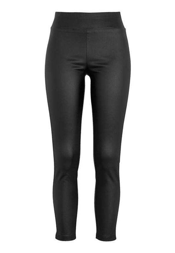 Soyaconcept Powlekane spodnie wciągane Pam Czarny female czarny 42. Kolor: czarny. Materiał: guma