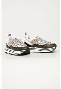Wielokolorowe buty sportowe Liu Jo na sznurówki, na średnim obcasie, z okrągłym noskiem