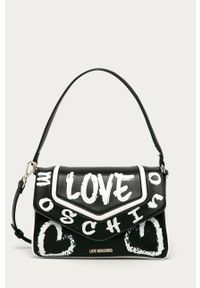 Czarna shopperka Love Moschino mała, na ramię