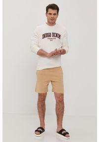 Premium by Jack&Jones - Bluza. Okazja: na co dzień. Kolor: beżowy. Wzór: aplikacja. Styl: casual