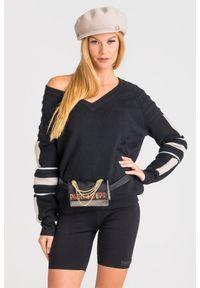 Sweter Patrizia Pepe krótki, z długim rękawem, na spacer