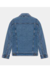 MegaKoszulki - Kurtka jeansowa damska niebieska (bez nadruku). Kolor: niebieski. Materiał: jeans. Sezon: wiosna. Styl: klasyczny