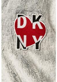 Szary szlafrok DKNY z aplikacjami