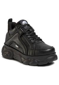 Czarne buty sportowe Buffalo z cholewką, na co dzień