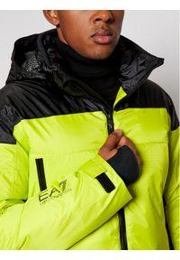 Żółta kurtka sportowa EA7 Emporio Armani narciarska