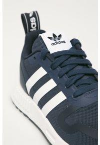 Niebieskie buty sportowe adidas Originals na sznurówki, z okrągłym noskiem