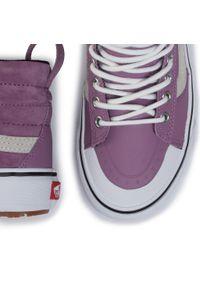 Fioletowe buty sportowe Vans z cholewką