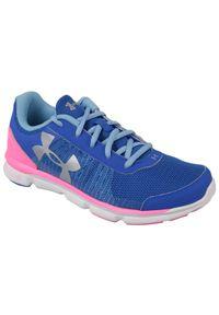 Niebieskie buty do biegania Under Armour z cholewką, w kolorowe wzory