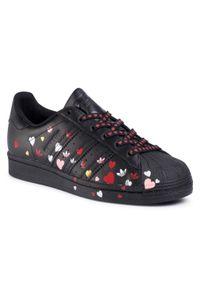 Czarne półbuty Adidas eleganckie, z cholewką