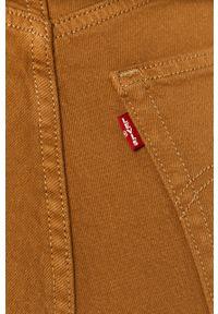 Złote proste jeansy Levi's® na spotkanie biznesowe, z podwyższonym stanem