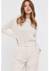 Beżowy sweter Answear Lab długi, z długim rękawem, na co dzień, wakacyjny