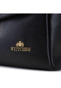 Wittchen - Kuferek skórzany ze złotą klamrą. Kolor: czarny. Wzór: aplikacja. Materiał: skórzane. Styl: biznesowy, klasyczny, elegancki. Rodzaj torebki: na ramię
