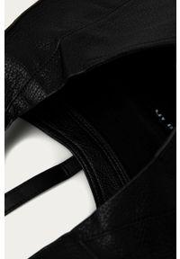 Czarna shopperka Answear Lab skórzana, wakacyjna
