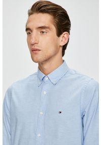 Niebieska koszula TOMMY HILFIGER długa, casualowa