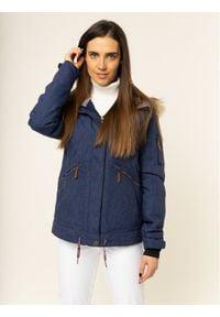 Roxy Kurtka snowboardowa Meade ERJTJ03243 Granatowy Tailored Fit. Kolor: niebieski. Sport: snowboard