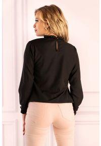Czarna bluzka z długim rękawem Merribel retro