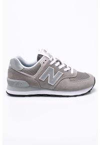 Szare buty sportowe New Balance z cholewką, New Balance 574, z okrągłym noskiem, na sznurówki