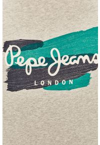 Szary t-shirt Pepe Jeans z nadrukiem