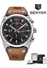 Zegarek BENYAR Blackbird srebrny-czerwony (BY5112). Kolor: srebrny, czerwony, wielokolorowy